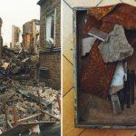 Demolished hospital and material sampel