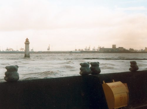 Concrete teddies in New Brighton