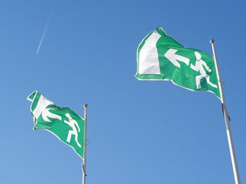 Emergency Exit flags